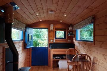 Handcrafted wooden Shepherd's Hut