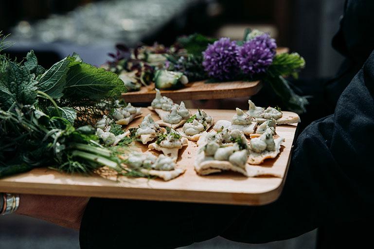 Vegan and vegetarian wedding catering Cornwall