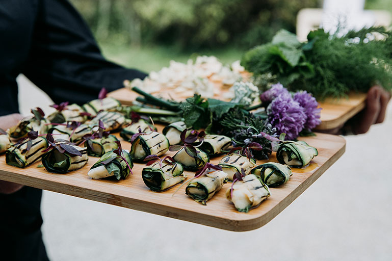 Vegan wedding food at Mount Pleasant Eco Park