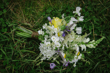 Wild Cornish wedding flowers bouquet