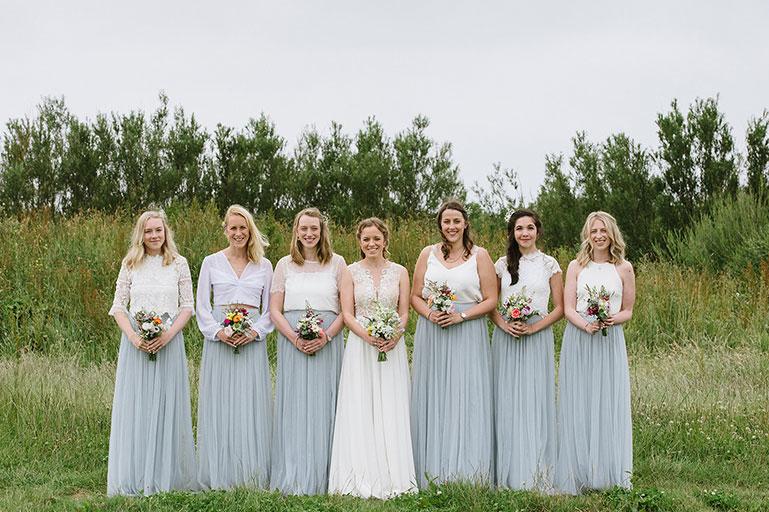 Bride and Bridesmaids at Eco Park wedding