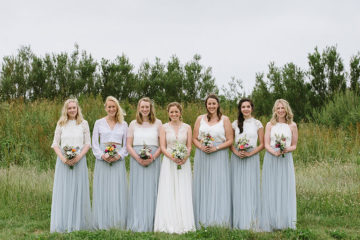 Bride and Bridesmaids at Eco Park wedding