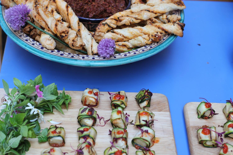Vegan and vegetarian wedding catering food platters