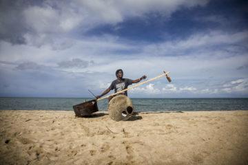 Gasper Nali on Chikale Beach