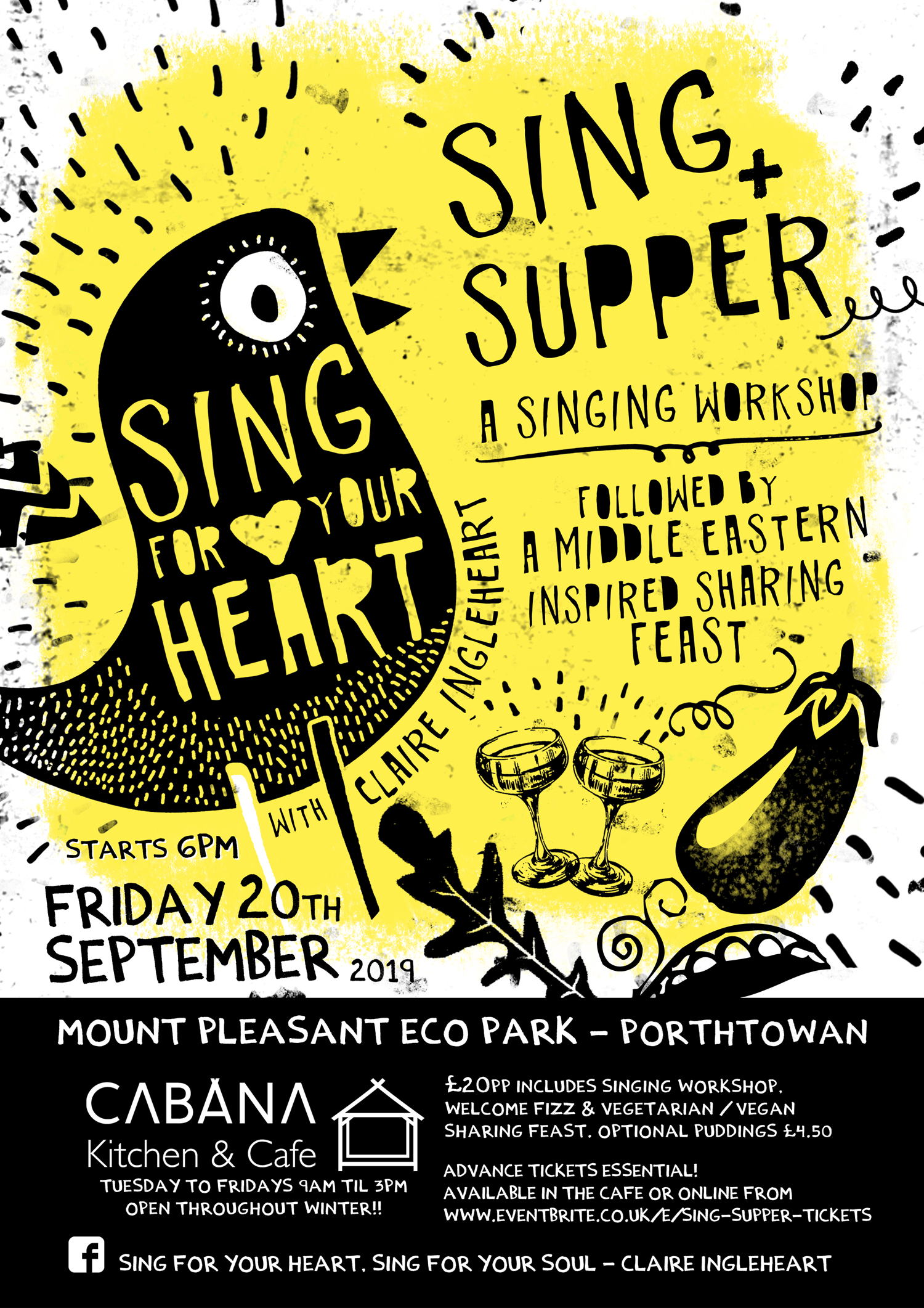 Sing and Supper Eco Park Cornwall