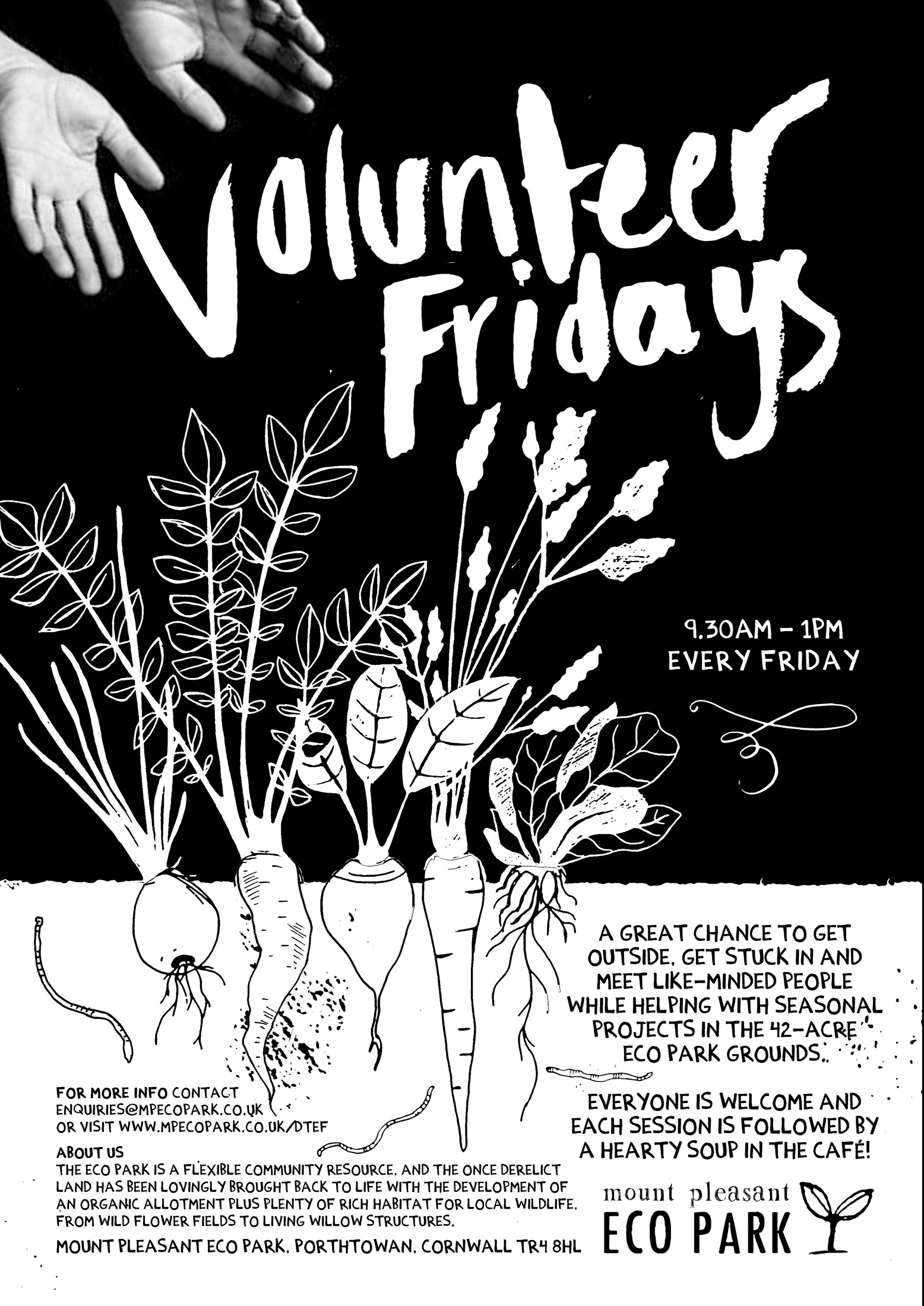 Volunteer Fridays poster