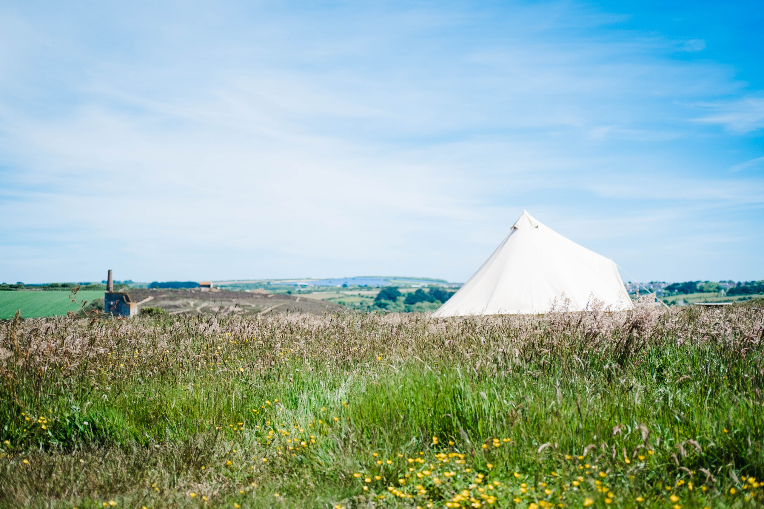 Camping and glamping in Porthtowan Cornwall