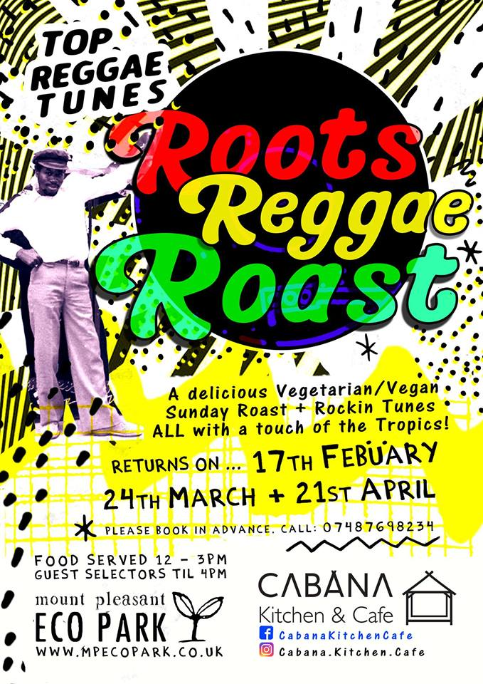 Roots Reggae Roast - Vegan Roast Porthtowan Cornwall