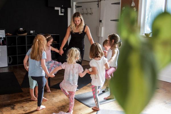 Children's Yoga Porthtowan Cornwall