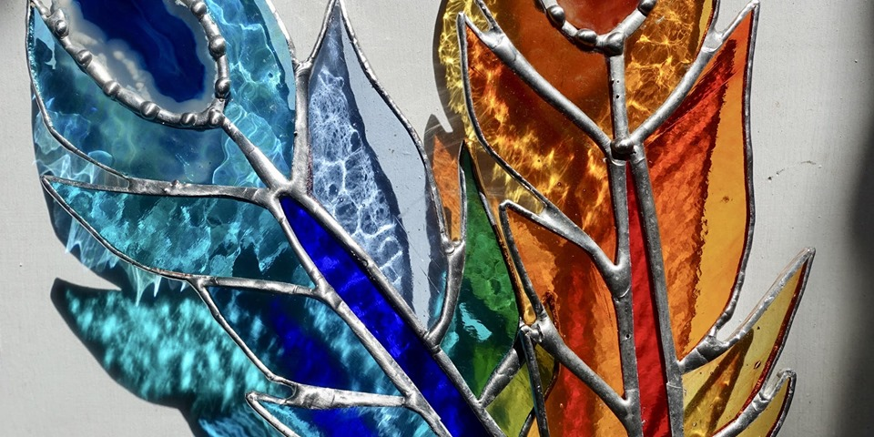 Stained Glass workshop Porthtowan Cornwall