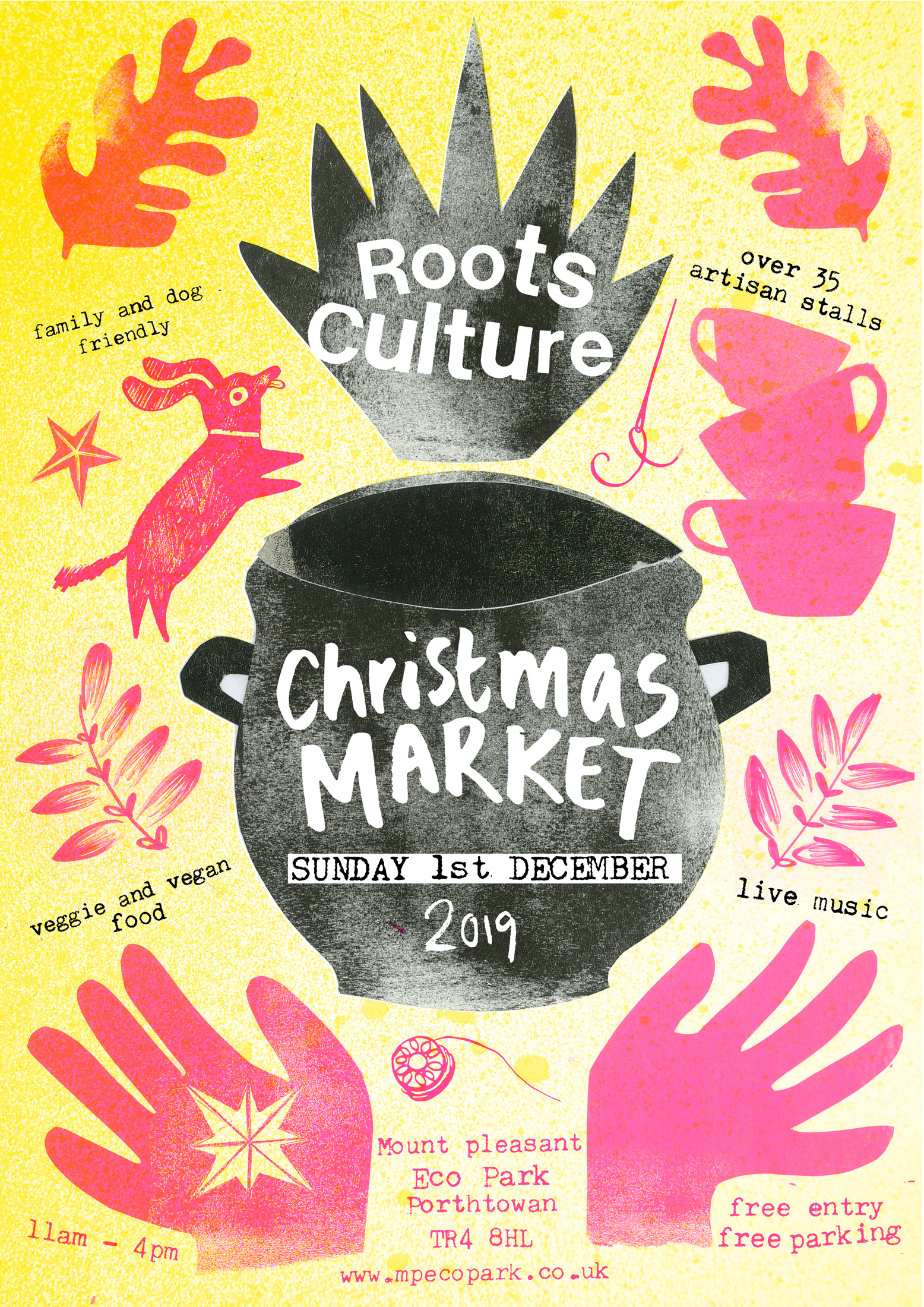 Roots Culture Christmas Market 1st December 2019 Mount Pleasant Eco Park