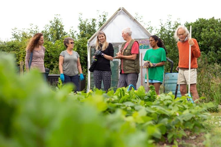 Volunteer gardening at Mount Pleasant Eco Park