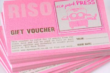 eco park press workshops gift voucher cornwall
