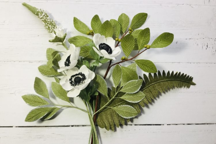 paper art flowers workshop