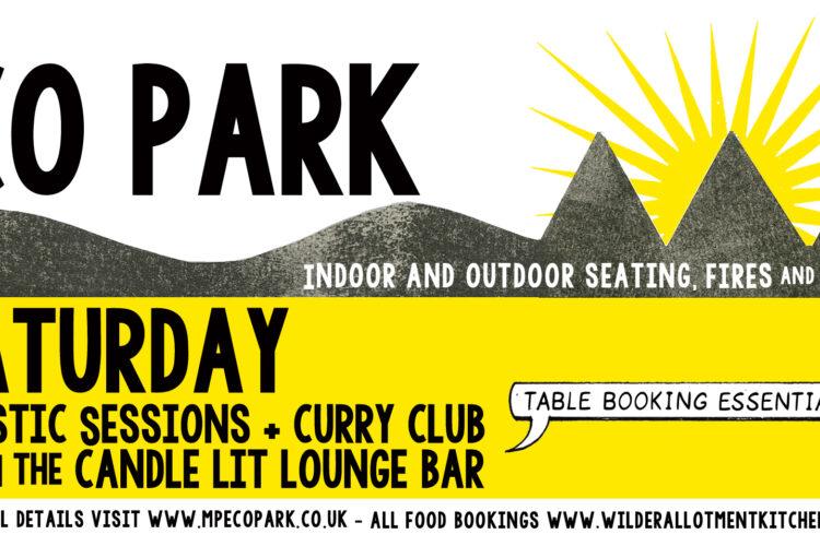 Saturday Acoustic nights eco park cornwall